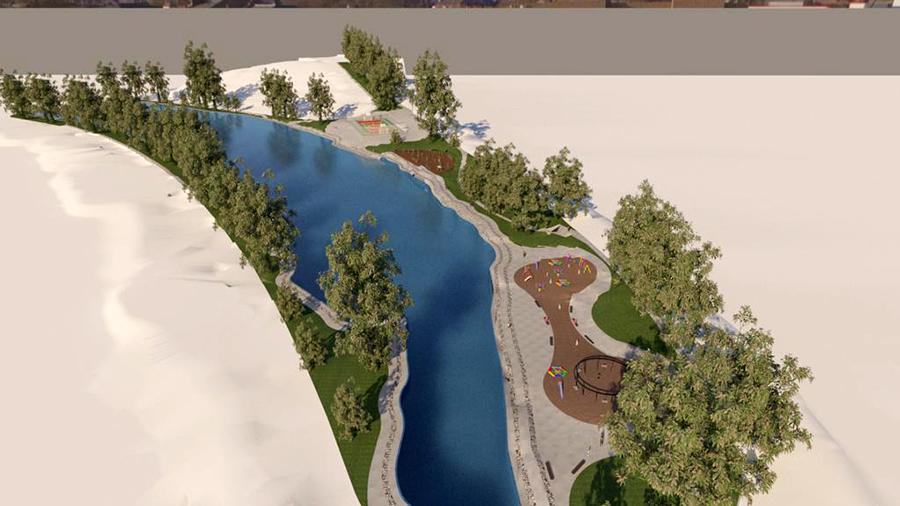 Imagem do projeto de recuperação do Lago da Hípica. As demais obras serão de infraestrutura, recuperação das áreas de lazer e pavimentação asfáltica